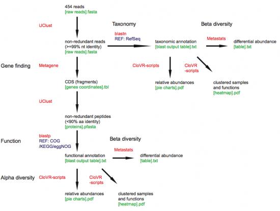 CloVR Metagenomics workflow