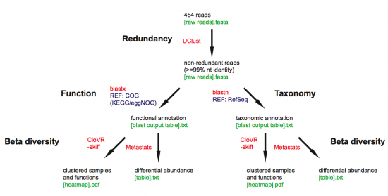 CloVR Metagenomics (no orfs) workflow